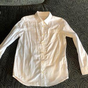 White button collared blouse